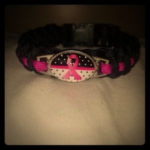 Jewelry - Breast cancer paracord bracelet